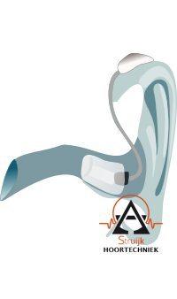Luidspreker in het oor gehoorapparaat